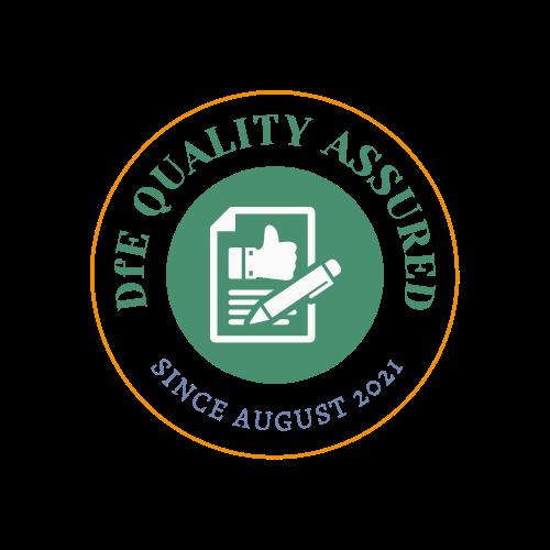DfE Quality Assured Logo - Transparent background